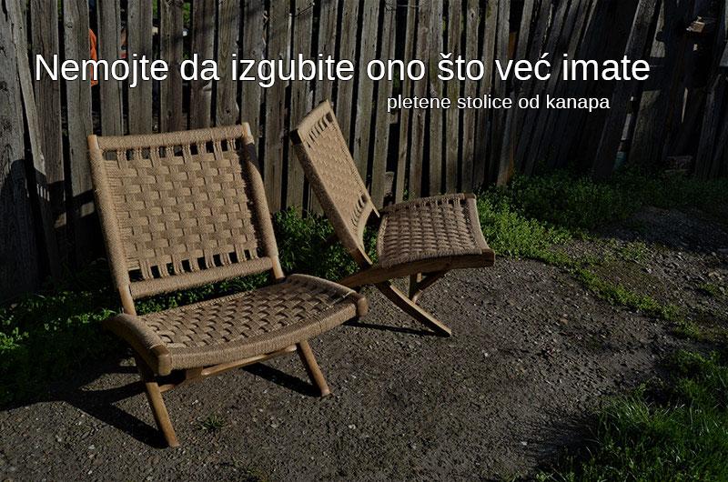 pletena stolica od kanapa